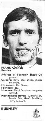 Frank-Casper-autograph-signed-Burnley-FC-football-memorabilia-turf-moor-manager-signature-rotherham-united