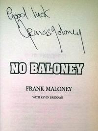 FRANK MALONEY (Lennox Lewis' manager) signed autobiography