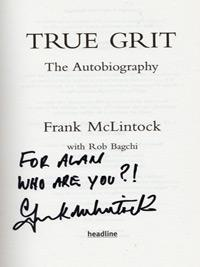 FRANK McLINTOCK (Arsenal & Scotland) signed copy of