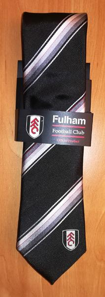 Fulham-FC-football-memorabilia-official-team-logo-tie-necktie-Cottagers-silk-ffc logo executive