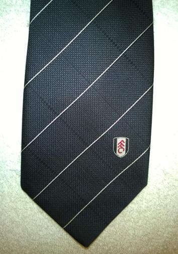 Fulham-FC-football-memorabilia-official-team-logo-tie-necktie-Cottagers-polyester-executive