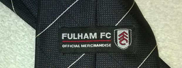 Fulham-FC-football-memorabilia-official-team-logo-tie-necktie-Cottagers-polyester-executive-merchandise