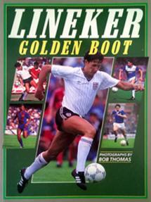 GARY-LINEKER-memorabilia-signed-Golden-Boot-book-football-memorabilia-autobiography-Spurs-Everton-Barcelona-England-autograph