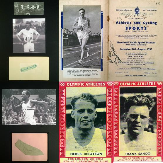 GBA-ATH-1-Harold Abrahams autograph signed athletics memorabilia Macdonald Bailey Derek Ibbotson Jim Peters Graham Budd Auctions sports memorabilia Sothebys