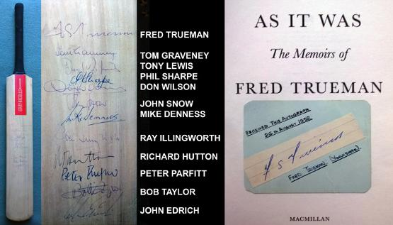 GBA-CKT-1-Fred-Treuman-autograph-signed-Yorkshire-cricket-memorabilia-Mike-Denness-Ray-Illingworth-John-Snow-Edrich-Parfitt--Graham-Budd-Auctions-sporting-memorabilia-Sothebys