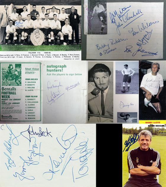 GBA-FOOT-Bobby-Robson-autograph-signed-Fulham-football-Kevin-Keegan-Jimmy-Hill-Ron-Greenwood-Joe-Bacuzzi-Leggat-Graham-Budd-auctions-sports-memorabilia-sale-sothebys