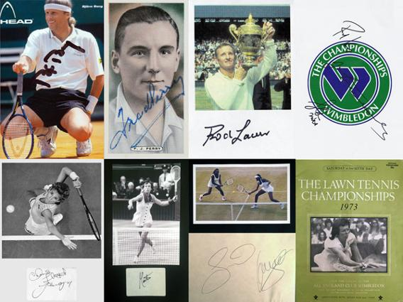 GBA-TENNIS-Fred-Perry-autograph-signed-tennis-Rod-Laver-Chris-Evert-Martina-Pete-Sampras-Andre-Agassi-Graham-Budd-auctions-sports-memorabilia-sale-sothebys