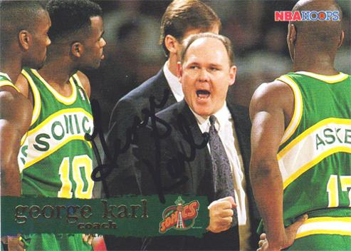GEORGE-KARL-autograph-signed-Seattle-Supersonics-NBA-memorabilia-basketball-head-coach-Bucks-Nuggets-Cavs-Warriors-Coach-of-the-year-2013