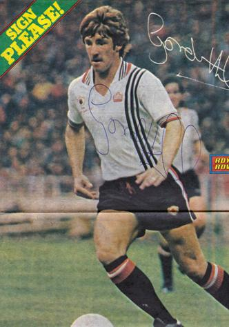 GORDON-HILL-autograph-Man-Utd-memorabilia-roy of the rovers signed-poster-football-memorabilia-soccer-autographed-signature