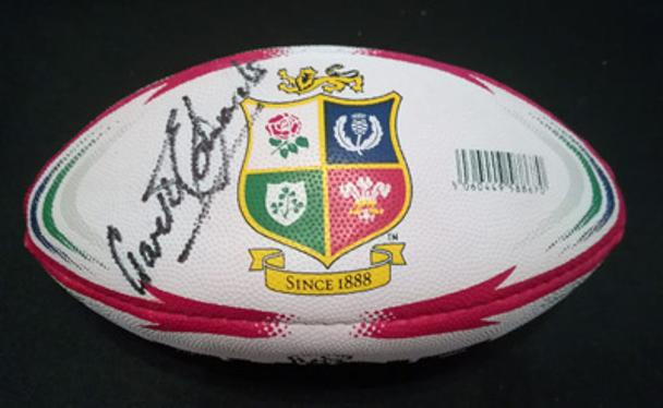 Gareth-Edwards-autograph-signed-Wales-British-Lions-rugby-memorabilia-autographed-2017-tour-New-Zealand-NZ-signature-rhino-rmini-replica-ball-cardiff