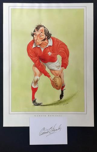 Gareth-Edwards-autograph-signed-Wales-rugby-memorabilia-autographed-signature-cardiff-blues-john-ireland-print-scrum-half-british-lions