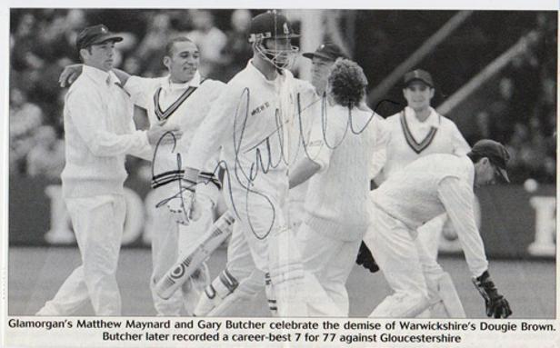 Gary-Butcher-autograph-signed-Glamorgan-cricket-memorabilia-all-rounder-signature-wales