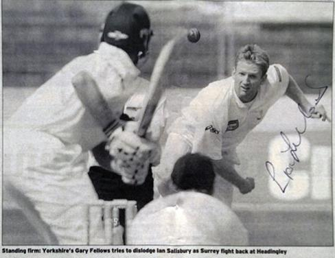 Gary-Fellows-autograph-signed-Yorkshire-cricket-memorabilia-yorks-CCC