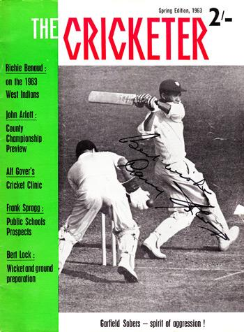 Sir Gary Sobers signed 1963 Cricketer magazine cover