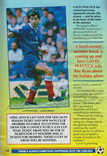 Gavin-Peacock-autograph-signed-chelsea-football-memorabilia-signed-cfc-soccer-match-day-programme-1994-cafc-chartlon-athletic