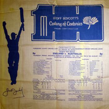 Geoff Boycott Commemorative 100 Centuries Handkerchief