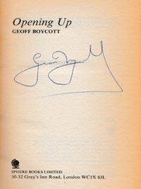 Geoff-Boycott-autograph-signed-yorkshire-cricket-memorabilia-book-autobiography-opening-up-england-boycs