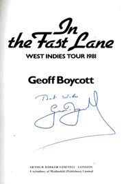 Geoff-Boycott-autograph-signed-yorkshire-cricket-memorabilia-geoffrey-book-in-the-fast-lane-west-indies-1981-tour--england-signature