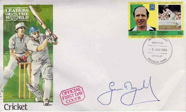 Geoff Boycott signed Tuvalu Cricket First Day Cover