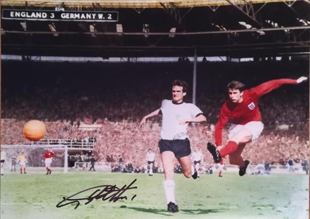 Geoff-Hurst-autograph-signed-1966-world-cup-football-memorabilia-england-4-2-west-germany-wembley-stadium-extra-time-they-think-its-all-over-sir