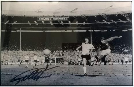 Geoff-Hurst-autograph-signed-England-1966-World-Cup-Football-memorabilia-West-Germany-4-2-hat-trick-third-goal-scorer-wembley-stadium-jules-rimet-signature-sir