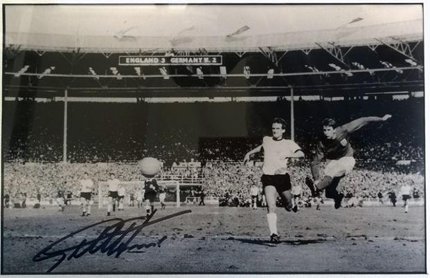 Geoff-Hurst-autograph-Sir-Geoff-Hurst-memorabilia-signed-England-1966-World-Cup-Football-memorabilia-Wembley-Stadum-4-2-West-Germany-hat-trick-third-goal-scorer