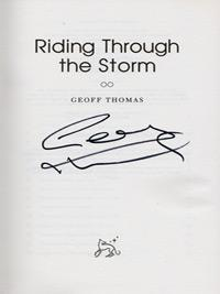 Geoff-Thomas-autograph-signed-autobiography-cycling-memorabilia-riding-through-the-storm-crystal-palace-football-signature-tour-de-france