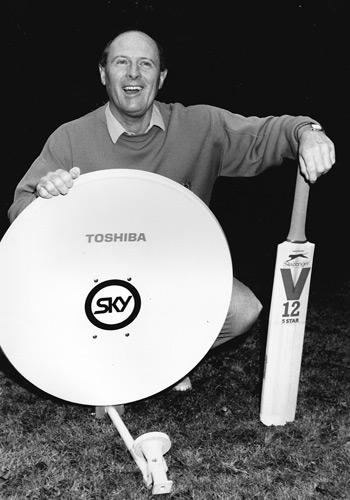 Geoff Boycott Sky Sports cricket promo photo