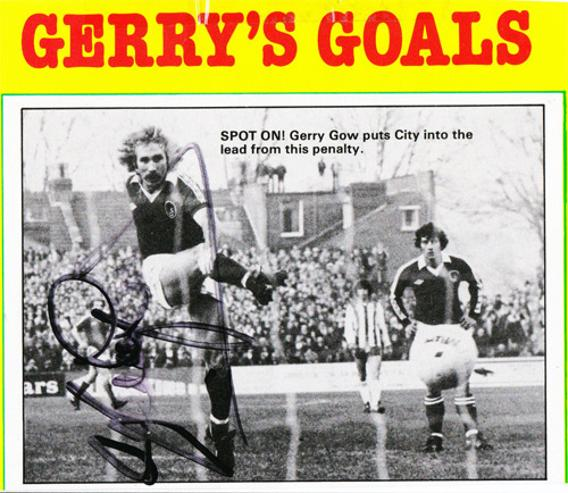 Gerry-Gow-autograph-signed-Bristol-City-FC-football-memorabilia-signature-Ashton-Gate-Man-City