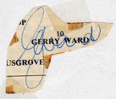 Gerry-Ward-autograph-signed-Arsenal-fc-football-memorabilia-Gunners-AFC-signature-youngest-player-leyton-orient-barnet-manager