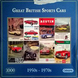 Gibsons Jigsaw Puzzle Great British Motor Sports Cars