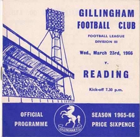 Gillingham-football-memorabilia-1965-programme-reading-town-the-gills-fc-priestfield-stadium