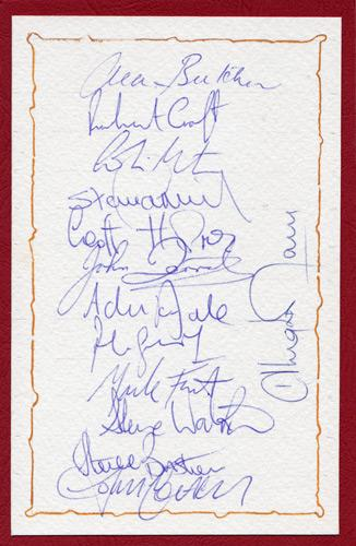 Glamorgan-cricket-memorabilia-signed-team-sheet-Robert-Croft-Alan Butcher-Colin Metson-Dale-Holmes-Derrick-Watkins-Frost-Morris-Cottey-Dragons