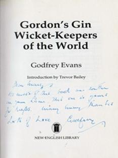 Godfrey-Evans-autograph-signed-kent-cricket-memorabilia-england-test-keeper-wicket-keepers-of-the-world-book-gordons-gin-first-edition-1984-signature-mary-ladbrokes