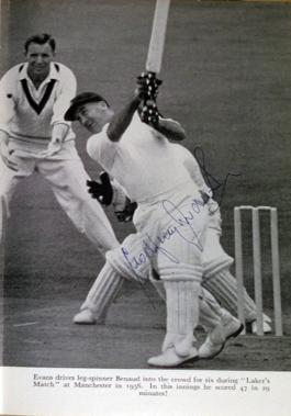 Godfrey-Evans-memorabilia-godfrey-evans-autograph-signed-autobiography-book-the-gloves-are-off-1st-first-edition-1960-kent-cricket-memorabilia-kccc-signature-cover