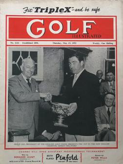 Golf-Illustrated-magazine-1952-uk-edition-may-ernest millward-one-shilling-golfing-golfer