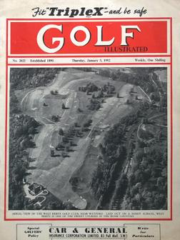 Golf-Illustrated-magazine-January-1952-uk-edition-west-herts-golf-club-one-shilling-golfing-golfer