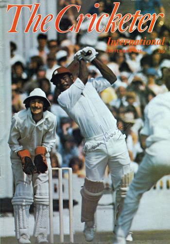 Gordon-Greenidge-signed-sept-1976-Cricketer-magazine-cover-west-indies-hampshire-hants-autograph-cuthbert-lashings-barbados