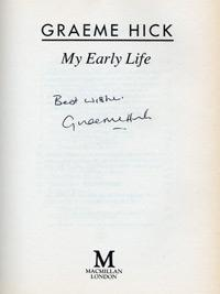 GRAEME HICK Worcs CCC & England) signed autobiography My Early Life First Edition autograph signature macmillan