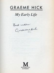 GRAEME HICK (Worcs & England) signed autobiography
