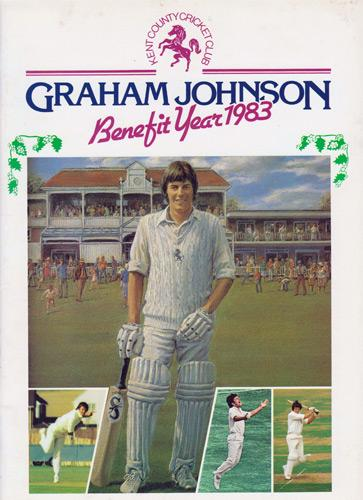 Graham-Johnson-autograph-signed-Kent-cricket-memorabilia-KCCC-spitfires-county-1983-benefit-testimonial-brochure-signature-chairman