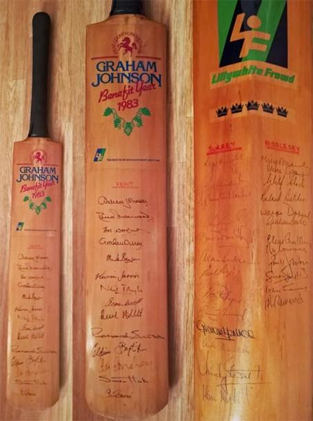 Graham-Johnson-autograph-signed-kent-cricket-memorabilia-1983-benefit-bat-chris-cowdrey-dilley-tavare-underwood-woolmer-kccc