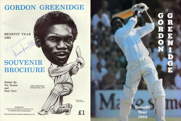 Greenidge-signed-hampshire cricket Benefit-brochure 1983 west indies barbados