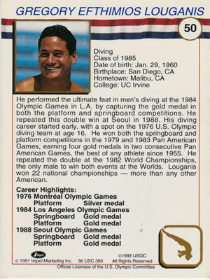 Greg-Louganis-signed-US-Olympic-diving-card-gold-medal-champion-autograph-bio