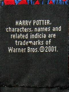 Harry Potter Quidditch silk necktie label 300