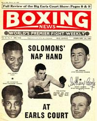 HENRY COOPER signed 1957 Boxing News cover for his fight against Joe Bygraves.