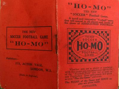 Ho-Mo-Football-the-new-soccer-game-vintage-table-dice-skill-tactics-box-1930-board-rules-book