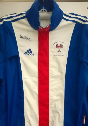 IAN ROSE Paralympic champion signed 2004 Athens Great Britain team jacket Judo memorabilia