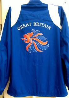 IAN ROSE Paralympic champion signed 2004 Athens Great Britain team jacket Judo memorabilia GB Olympic lion logo