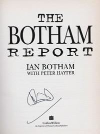 Ian-Botham-autograph-signed-England-cricket-memorabilia-autographed-book-Sir-IT-The-Botham-Report-Somerset-CCC-Durham-Ashes-Sky-Sports